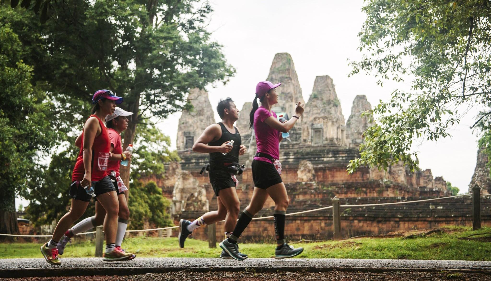 камбоджа, достопримечательности камбоджи, сием рип, марафон, бег