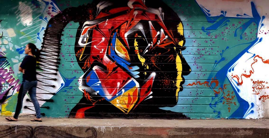 Стрит-арт в Пномпене